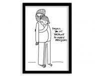 Plakat w ramce, Kolekcja Jeden Rysunek Dziennie - Pasujemy - czarna ramka, 30x40 cm
