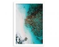 Plakat w ramce, Morze z lotu ptaka, 20x30 cm