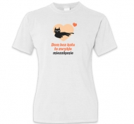Koszulka damska, Kolekcja Typowy Kot - Dom bez kota
