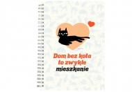 Notes Kolekcja Typowy Kot - Dom bez kota, 15x21 cm