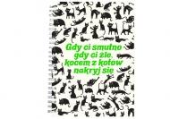 Notes Kolekcja Typowy Kot - Gdy Ci smutno, 15x21 cm