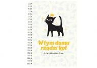 Notes Kolekcja Typowy Kot - W tym domu rządzi kot, 15x21 cm