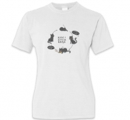 Koszulka damska, Kolekcja Rynn Rysuje - Koci krąg życia - damska