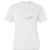 Koszulka damska, Kolekcja Rynn Rysuje - Biała kotosyrenka - damska