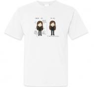 Koszulka męska, Kolekcja Rynn rysuje - Przed i po 30 - męska