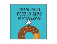 Magnes Kolekcja Ptaszek Staszek - Pączek, 6,5x6,5 cm