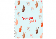 Notes You go girl - linie, 15x21 cm