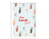 Plakat w ramce, You go girl, 20x30 cm