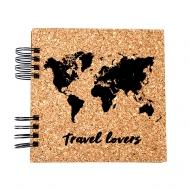 Album korkowy Travel lovers, 15x15 cm