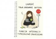 Notes Kolekcja Rynn rysuje - Ładowanie baterii - linie, 15x21 cm