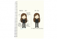 Notes Kolekcja Rynn rysuje - Przed i po 30 - kropki, 15x21 cm