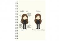 Notes Kolekcja Rynn rysuje - Przed i po 30 - linie, 15x21 cm