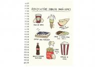 Notes Kolekcja Rynn rysuje - Rzeczy co smakują najlepiej - kropki, 15x21 cm