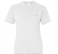 Koszulka damska, Kolekcja Rynn Rysuje - Biała kotosyrenka - damska, róg