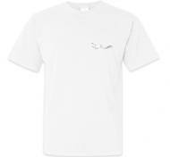 Koszulka męska, Kolekcja Rynn Rysuje - Biała kotosyrenka - męska, róg