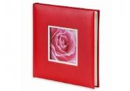 Album na zdjęcia Wklejany ekoskóra czerwony - 120 zdjęć, 25x25 cm