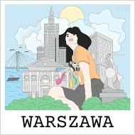 Magnes Rysunek Warszawa, 9x9 cm