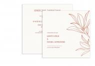 Zaproszenia Rustykalne - Motyw kwiatowy, 14x14 cm