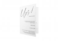Zaproszenia UPS - Zmiana planów, 10x15 cm