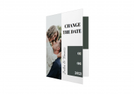 Zaproszenia Minimalistyczne Change The Date, 10x15 cm
