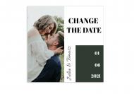 Zaproszenia Minimalistyczne Change The Date, 14x14 cm