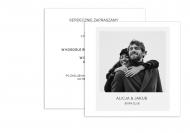 Zaproszenia Minimalistyczne - Retro, 14x14 cm