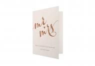 Zaproszenia Rustykalne - Mr & Mrs, 10x15 cm