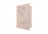 Zaproszenia Minimalistyczne - Kwiat, 10x15 cm