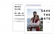 Zaproszenia Nowoczesne - Save the date, 14x14 cm