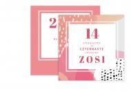 Fotokartki Kolorowe urodziny, 14x14 cm