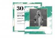 Zaproszenia Nowoczesne urodziny, 14x14 cm