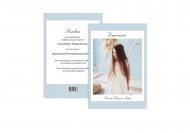 Zaproszenia Minimalistyczne - Komunia dziewczynka, 15x20 cm