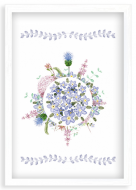 Plakat w ramce, W kolorze Prowansji - biała ramka, 20x30 cm