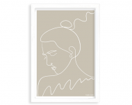 Plakat w ramce, Kolekcja Grafikk Jasikk - Nostalgia beż - biała ramka, 20x30 cm