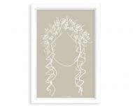 Plakat w ramce, Kolekcja Grafikk Jasikk - Szczęście beż - biała ramka, 20x30 cm