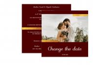 Zaproszenia Glamour - Change the date, 14x14 cm