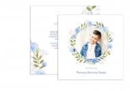 Zaproszenia Komunia w kwiatach, 14x14 cm