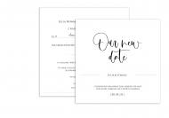 Zaproszenia Our new date, 14x14 cm
