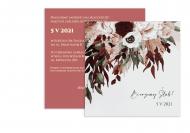 Zaproszenia Boho kwieciste, 14x14 cm
