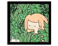 Plakat w ramce, Kolekcja Długopisem Malowane - Dżungla, 35x35  cm