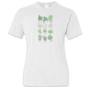 Koszulka damska, Kolekcja Długopisem Malowane - Mix roślin - damska