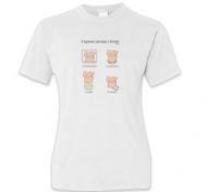 Koszulka damska, Kolekcja Długopisem Malowane - 4 typowe sytuacje z kotem - damska