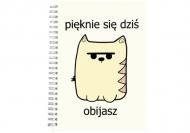 Notes Kolekcja Długopisem Malowane - Obijasz się - kratka, 15x21 cm