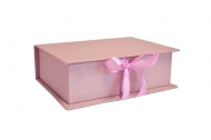 Pudełko na zdjęcia, 10x15 brudny róż, 12x17 cm