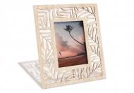 Ramka drewniana na zdjęcie Liście palmy, 18x22 cm