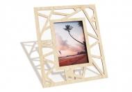 Ramka drewniana na zdjęcie Trójkąty, 18x22 cm