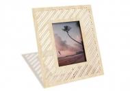 Ramka drewniana na zdjęcie Linie, 18x22 cm