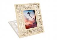 Ramka drewniana na zdjęcie Liście, 18x22 cm