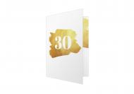 Zaproszenia Złote zaproszenie, 10x15 cm