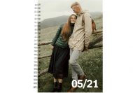 Notes Twój projekt kratka, 15x21 cm